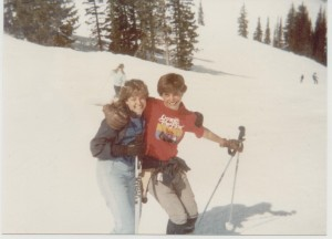 Kevin and I on spring break together in Utah in 1983.